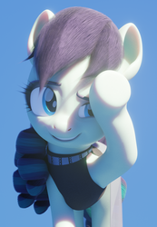 Size: 1080x1558 | Tagged: 3d, 3d model, artist:therealdjthed, blender, coloratura, cute, cycles, cycles render, earth pony, female, mare, pony, rara, rarabetes, safe, simple background, smiling, solo