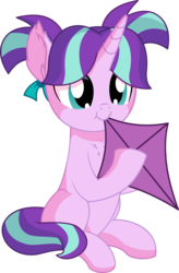 Size: 5269x8032 | Tagged: safe, artist:cyanlightning, starlight glimmer, pony, unicorn, .svg available, :t, absurd resolution, chest fluff, cute, ear fluff, eating, female, filly, filly starlight glimmer, glimmerbetes, holding, kite, nom, pigtails, silly, silly pony, simple background, sitting, smiling, solo, that pony sure does love kites, transparent background, vector, weapons-grade cute, wrong eye color, younger