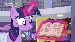 Size: 1920x1080   Tagged: safe, screencap, pokey pierce, sea swirl, seafoam, twilight sparkle, alicorn, pony, the point of no return, adorkable, book, cute, dork, magic, salvador dalí, that pony sure does love books, the persistence of memory, twilight sparkle (alicorn)