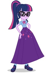 Size: 1024x1537   Tagged: safe, artist:starman1999, screencap, sci-twi, twilight sparkle, equestria girls, equestria girls series, clothes, female, geode of telekinesis, long skirt, magical geodes, skirt, solo
