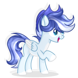 Size: 944x944 | Tagged: artist:xxmelody-scribblexx, hat, male, oc, oc:blue, pegasus, pony, safe, simple background, solo, stallion, transparent background, two toned wings