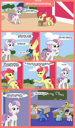 Size: 7000x12000 | Tagged: apple bloom, artist:chedx, bucket, chubby, circle, colt, comic, commission, female, filly, funny, gallop j. fry, male, misunderstanding, nature walk, oc, oc:fudge cookie, pony, round, russell, safe, school, snips, sweetie belle, truffle shuffle