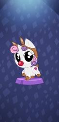 Size: 1080x2220   Tagged: safe, screencap, sweetie belle, deer, pony, reindeer, animal costume, costume, pocket ponies, pun, red nosed, reindeer costume, sleigh bell sweetie belle, sleigh belle