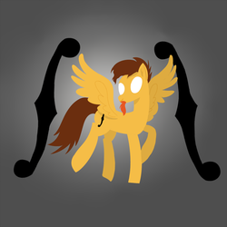 Size: 1080x1080 | Tagged: safe, artist:shooting star, oc, oc only, oc:arabesque sympony, pegasus, pony, lineless, minimalist, modern art, musician, shading, simple background, simple shading, solo, violin