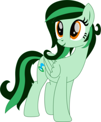 Size: 951x1153 | Tagged: artist:rd4590, base used, oc, oc:eden shallowleaf, oc only, pegasus, pony, safe, simple background, smiling, solo, transparent background