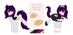 Size: 3830x1862 | Tagged: safe, artist:xcinnamon-twistx, oc, oc:cinnamon twist, cat pony, original species, pony, bell, bell collar, cat ears, cat tail, clothes, collar, cutie mark, looking at you, maid, maid headdress, reference sheet, solo