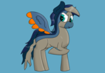 Size: 1816x1264 | Tagged: safe, artist:gamer-shy, oc, oc:wave bacer, pegasus, pony, odd colors, solo