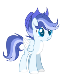 Size: 3742x4644 | Tagged: artist:thesmall-artist, colored hooves, hat, male, oc, oc:blue, pegasus, pony, safe, simple background, solo, stallion, transparent background, two toned wings