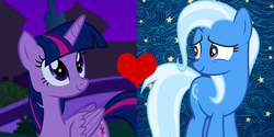 Size: 1083x540 | Tagged: alicorn, artist needed, edit, female, lesbian, pony, safe, shipping, shipping domino, trixie, twilight sparkle, twilight sparkle (alicorn), twixie