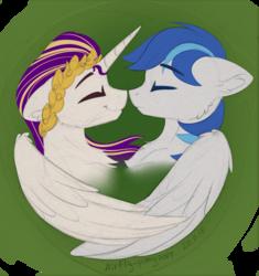 Size: 1406x1496   Tagged: safe, artist:airfly-pony, oc, oc only, oc:antique pony, oc:rainy, pony, ear fluff, male, rcf community, shipping