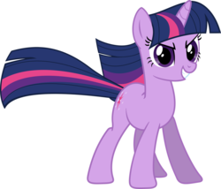 Size: 966x827 | Tagged: safe, artist:martinnus1, twilight sparkle, pony, unicorn, the return of harmony, determined, epic, female, mare, pose, simple background, smiling, solo, transparent background, unicorn twilight, vector, windswept mane