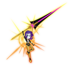 Size: 5000x4540 | Tagged: safe, artist:orin331, lancer, rarity, equestria girls, absurd resolution, armor, breasts, fate/apocrypha, fate/grand order, female, karna, lancer of red, simple background, solo, transparent background, vasavi shakti, weapon