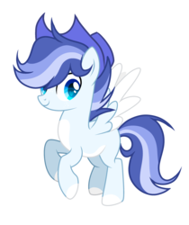 Size: 2496x2968 | Tagged: artist:thesmall-artist, hat, male, oc, oc:blue, pegasus, pony, safe, simple background, solo, stallion, transparent background, two toned wings