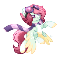 Size: 901x859 | Tagged: artist:sugaryicecreammlp, clothes, female, goggles, mare, oc, oc:celestial star, pegasus, pony, safe, scarf, simple background, solo, transparent background