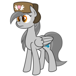 Size: 4688x4688 | Tagged: artist:besttubahorse, clothes, hat, oc, oc:zippy snips, safe, simple background, transparent background, ushanka, vector