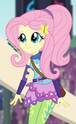 Size: 343x559 | Tagged: safe, screencap, fluttershy, equestria girls, friendship games, archery clothes, bow (weapon), cropped, female, friendship games archery outfit, friendship games outfit, solo, tri-cross relay outfit