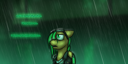 Size: 1280x640 | Tagged: artist:captainhoers, canterlot, cybernetic enhancement, cyberpunk, cyborg, female, mare, new canterlot, oc, oc:atom smasher, oc only, pegasus, safe, the sunjackers