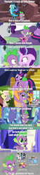 Size: 1280x5566 | Tagged: a canterlot wedding, alicorn, applejack, applespike, ariana grande, best gift ever, comic, cute, dragon, edit, edited screencap, emberspike, father knows beast, female, fluttershy, flutterspike, friendship is magic, gauntlet of fire, male, molt down, over a barrel, pinkie pie, pinkiespike, princess ember, rainbow dash, rainbowspike, rarity, safe, screencap, screencap comic, shipping, smolder, song reference, sparity, sparlight, spikabetes, spike, spike at your service, spikebelle, spike gets all the mares, spike got all the mares, spolder, starlight glimmer, straight, sweetie belle, thank u next, the crystalling, twilight sparkle, twilight sparkle (alicorn), twispike, winged spike