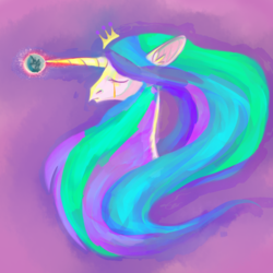 Size: 1280x1280 | Tagged: safe, artist:puddingskinmcgee, princess celestia, alicorn, pony, crying, mare in the moon, moon, sad, solo