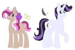 Size: 4478x3000 | Tagged: artist:queenderpyturtle, commission, earth pony, earth pony oc, female, magical lesbian spawn, male, next generation, oc, oc only, offspring, parent:diamond tiara, parent:jet set, parent:silver spoon, parents:silvertiara, parents:upperset, parent:upper crust, pony, safe, simple background, unicorn, unicorn oc