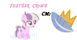 Size: 752x395 | Tagged: artist:mlplover0711, base used, cutie mark, female, filly, next generation, oc, oc:feather crown, oc only, offspring, parent:diamond tiara, parent:featherweight, parents:diamondweight, parents:feathertiara, safe, simple background, solo, watermark
