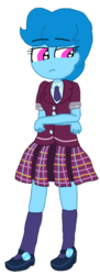 Size: 393x1080 | Tagged: artist:徐詩珮, clothes, crystal prep academy uniform, crystal prep shadowbolts, equestria girls, equestria girls-ified, friendship games, my little pony: the movie, safe, school uniform, simple background, spring rain, spring rain is not amused, transparent background, unamused, vector