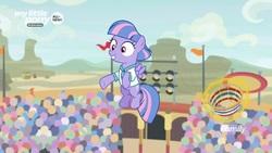 Size: 1280x720   Tagged: safe, screencap, wind sprint, pony, common ground, basket, female, magic, solo