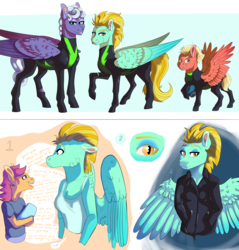 Size: 7077x7396 | Tagged: safe, artist:venommocity, lightning dust, rolling thunder, scootaloo, short fuse, anthro, washouts (team)