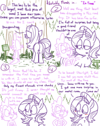 Size: 1280x1611 | Tagged: adorkable, adorkable friends, artist:adorkabletwilightandfriends, blushing, comic, comic:adorkable twilight and friends, conversation, cute, dork, dragon, forest, friends, friendship, humor, innuendo, lineart, misspelling, oc, oc:lieutenant colonel hoofstrong, plot, pony, road trip, safe, slice of life, spike, starlight glimmer, tail, tourist, tourist trap, tree, twilight sparkle, unicorn, wood