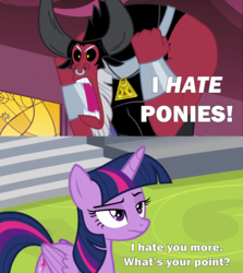 Size: 2000x2245 | Tagged: alicorn, angry, caption, centaur, comic, edi, edit, edited screencap, horse play, image macro, lord tirek, meme, pony, reference, safe, screencap, screencap comic, spyro's bad day, spyro the dragon, text, twilight is not amused, twilight's kingdom, twilight sparkle, twilight sparkle (alicorn), unamused, unimpressed