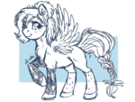 Size: 800x600 | Tagged: safe, artist:ali-selle, oc, oc only, pegasus, pony, solo