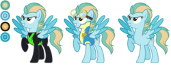 Size: 4472x1728 | Tagged: safe, artist:diamond-chiva, oc, oc:tornado blitz, pegasus, pony, clothes, female, mare, offspring, parent:lightning dust, parent:thunderlane, parents:thunderdust, simple background, solo, transparent background, uniform, washouts uniform, wonderbolt trainee uniform
