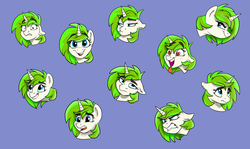 Size: 5700x3400   Tagged: safe, artist:rutkotka, oc, oc:vinyl mix, pony, angry, curious, emotions, happy, icon, laughing, sad, smiling, suspicious, tongue out, worried, ych result