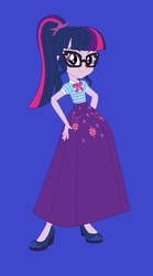 Size: 380x684   Tagged: safe, artist:starman1999, sci-twi, twilight sparkle, equestria girls, alternate universe, clothes, female, high heels, long skirt, shoes, skirt, solo