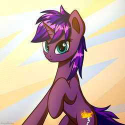Size: 1080x1080 | Tagged: safe, artist:adagiostring, oc, oc:tihan, pony, female, light, looking at you, mare, standing