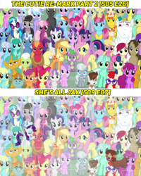 Size: 720x900 | Tagged: alicorn, aloe, amethyst star, apple bloom, applejack, berry punch, berryshine, big macintosh, bon bon, bulk biceps, captain obvious, carrot cake, carrot top, cheerilee, cherry berry, cloudchaser, cup cake, cutie mark crusaders, daisy, derpy hooves, diamond tiara, dj pon-3, doctor whooves, everypony at s5's finale, fit right in, flitter, flower wishes, fluttershy, golden harvest, granny smith, lemon hearts, lily, lily valley, linky, lotus blossom, lyra heartstrings, mane six, mayor mare, minuette, misspelling, octavia melody, pinkie pie, pipsqueak, pokey pierce, pony, pound cake, pumpkin cake, puzzle, rainbow dash, rarity, roseluck, safe, sassaflash, scootaloo, screencap, seafoam, sea swirl, she's all yak, shoeshine, silver spoon, snails, snips, sparkler, spike, spoiler:s09e07, spring melody, sprinkle medley, starlight glimmer, sunshower raindrops, sweetie belle, sweetie drops, the cutie re-mark, thunderlane, time turner, twilight sparkle, twilight sparkle (alicorn), twinkleshine, twist, vinyl scratch, yak, yona