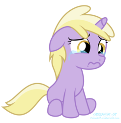 Size: 9000x9149 | Tagged: artist:kuren247, crying, dinky hooves, ear down, female, filly, floppy ears, pony, sad, safe, show accurate, sitting, solo, unicorn, vector