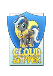 Size: 1280x1811 | Tagged: armor, armor pony, artist:mysticalpha, badge, convention badge, guard armor, male, oc, oc:cloud zapper, oc only, pegasus, pony, royal guard, safe, solo, stallion