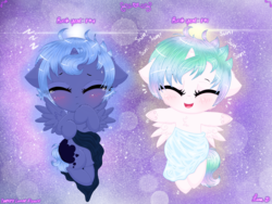 Size: 4032x3024 | Tagged: safe, artist:darkest-lunar-flower, princess celestia, princess luna, alicorn, pony, alternate universe, aura, baby, baby pony, blanket, blushing, cewestia, crying, cute, cutelestia, cuteness overload, death by cute, eyes closed, female, filly, foal, happy, heart attack inducing art, hnnng, lunabetes, onomatopoeia, sound effects, woona, younger, zzz
