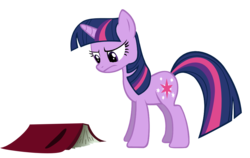 Size: 1000x632 | Tagged: artist:jourple, book, bookhorse, female, friendship is magic, frown, mare, pony, safe, simple background, solo, transparent background, twilight is not amused, twilight sparkle, unamused, unicorn, unicorn twilight, vector