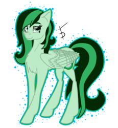 Size: 909x984 | Tagged: artist:fullmoondagger, oc, oc:eden shallowleaf, oc only, pegasus, pony, safe, simple background, smiling, solo, transparent background, wings