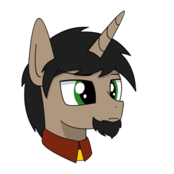 Size: 800x800 | Tagged: artist:lonebigcity, artist:mrcity4000, bust, clothes, male, oc, oc:lone misto, pony, portrait, safe, simple background, solo, transparent background, unicorn