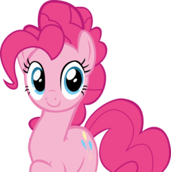 Size: 7706x7726 | Tagged: absurd res, artist:mrkat7214, cute, earth pony, female, looking at you, mare, party of one, pinkie pie, pony, raised hoof, safe, simple background, smiling, solo, transparent background, vector