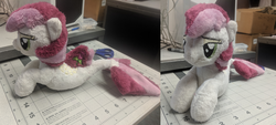 Size: 5000x2254 | Tagged: artist:kuragekami, irl, photo, plushie, roseluck, safe, seaponified, seapony (g4), species swap