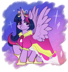 Size: 1515x1616 | Tagged: alicorn, artist:incapacitatedvixen, big crown thingy, clothes, coronation dress, dress, dressup, female, hoof shoes, jewelry, looking at you, mare, pony, princess twilight sparkle (episode), regalia, safe, simple background, smiling, solo, transparent background, twilight sparkle, twilight sparkle (alicorn)