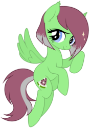 Size: 1264x1752 | Tagged: safe, artist:arshe12, oc, oc only, oc:watermelon success, pegasus, pony, base used, female, flying, mare, simple background, solo, transparent background