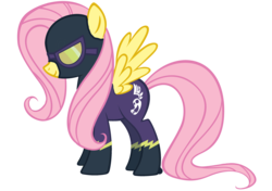 Size: 2722x1917 | Tagged: safe, artist:blazinjake, fluttershy, pony, clothes, costume, female, shadowbolts, shadowbolts costume, solo, vector
