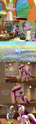 Size: 1920x6480 | Tagged: 3d, alicorn, armor, artist:papadragon69, backpack, bon bon, candy, choose your own adventure, comic, comic:spike's cyosa, crystal empire, crystal guard, crystal guard armor, dragon, food, friendship express, implied flurry heart, implied prince rutherford, implied twilight sparkle, lollipop, octavia melody, older, older spike, pony, princess cadance, safe, shining armor, soda, source filmmaker, spike, sweetie drops, teenager, teenage spike, toblerone, train, winged spike