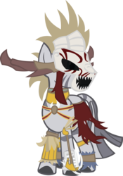Size: 3494x5001 | Tagged: safe, artist:zvn, zecora, zebra, clothes, crossover, diablo, female, quadrupedal, simple background, skull, solo, transparent background, vector