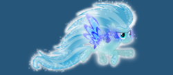 Size: 1076x466 | Tagged: artist:j-j-bases, base used, big mane, big tail, blue background, crystal, crystal eyes, glow, male, oc, oc:christle flyer, pegasus, pony, rainbow dash, rainbow power, safe, simple background, solo, sombra eyes, sparkles, tattoo